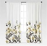 Threshold Climbing Vine Window Curtain Panel, Golden Mist, 54'X84'