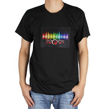 OriGlam LED Shirt Sound Activated Shirt Beat to the Music Li