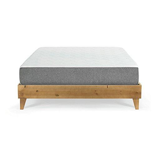 eLuxurySupply Mattress (10' Gel Memory Foam or 12' Latex Hybrid) & North American Pine Platform Bed