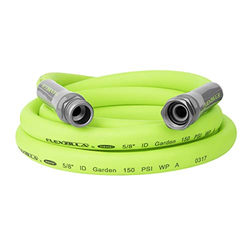 Flexzilla Garden Lead-in Hose, 5/8 in. x 10 ft., Heavy Duty, Lightweight, Drinking Water Safe - HFZG510YW