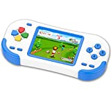 TEBIYOU Handheld Game Console, Built in 16 Bit 220 HD Classic Video Games 3.0'' Large Screen Seniors Electronic Handheld Games Player Birthday Gift for Children Adults (220 Games Blue)