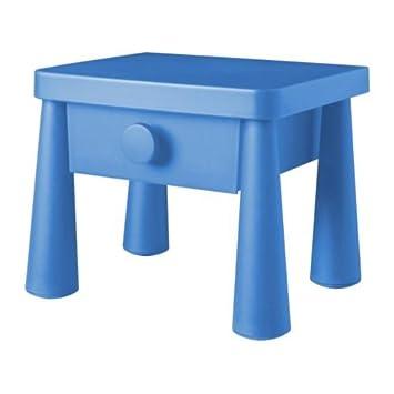 Ikea Mammut Table De Nuit Bleu Amazonfr Cuisine Maison