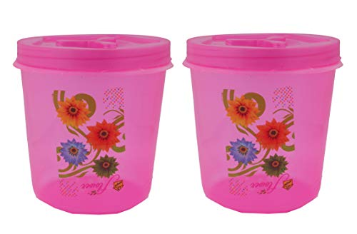41esPlJzelL - Plastic Box Masala and Multi purpse use Box Pack of 2, 250Ml Storage Multi Colour