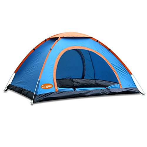 Pop Up Tent by LingAo,Automatic & Instant Setup Lightweight Tent includes Portable Pack for Hiking and Camping (Blue, 2 Person)