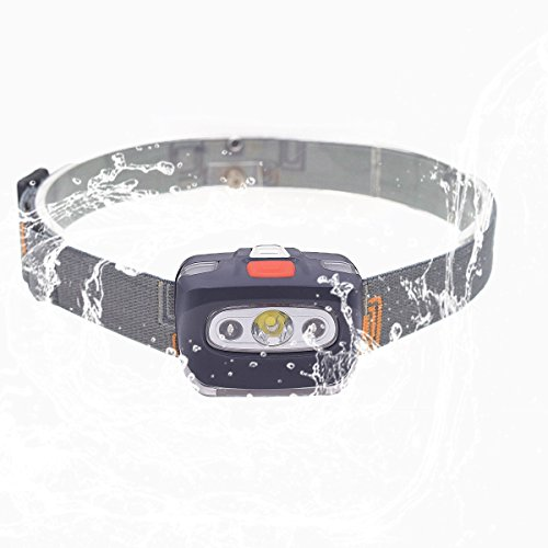 LED Headlamp Head Flashlight - 4 mode Bright White Led+Red Light head lamp ,Perfect for Running,Camping ,Lightweight ,Adjustable Headband, 3 AAA Batteries not Included