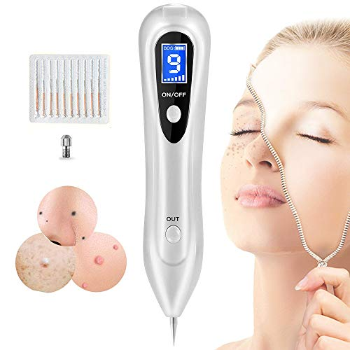 Skin Tag Repair Kit Multi Speed Adjustable Freckle & Tattoo Beauty Equipment Home USB Charging/LCD/Replaceable Needle