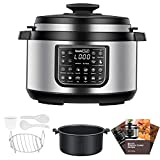 Geek Chef 8 Qt Electric Pressure Cooker with non stick oval inner pot, 12 Presets Programmable Multi-functional Slow, Rice Cooker/Steamer, Sauté, Yogurt, Soup Maker, cool-touch handles, EZ-Lock …