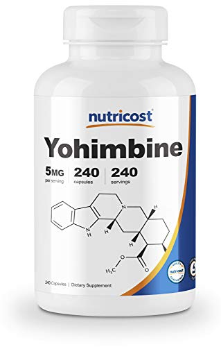 Nutricost Yohimbine HCl 5mg, 240 Capsules Extra Strength - Gluten Free, Non-GMO