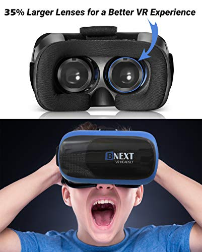 VR-Headset-Compatible-with-iPhone-Android-Phone-Universal-Virtual-Reality-Goggles-Play-Your-Best-Mobile-Games-360-Movies-with-Soft-Comfortable-New-3D-VR-Glasses-Blue-wEye-Protection