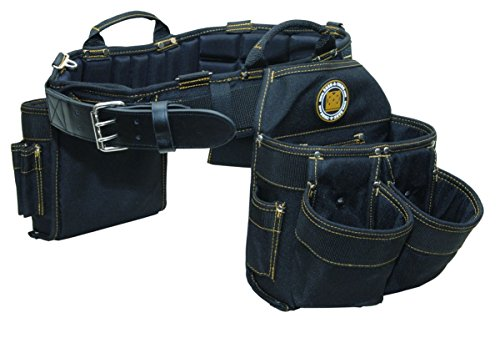 Rack-A-Tiers 43243 Electrician's Belt and Bag Combo 9 Pockets Large 36-40...