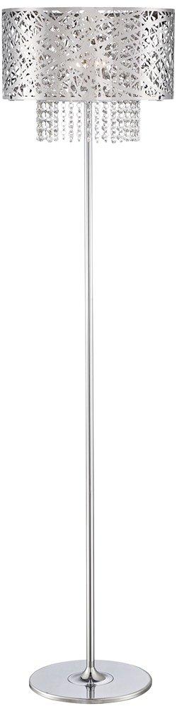Possini Euro Chrome Nest Crystal Chandelier Floor Lamp