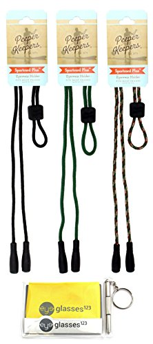 Peeper Keepers PK320, w/Cloth & Screwdriver, Black/Forest/Camo, 3 Pack