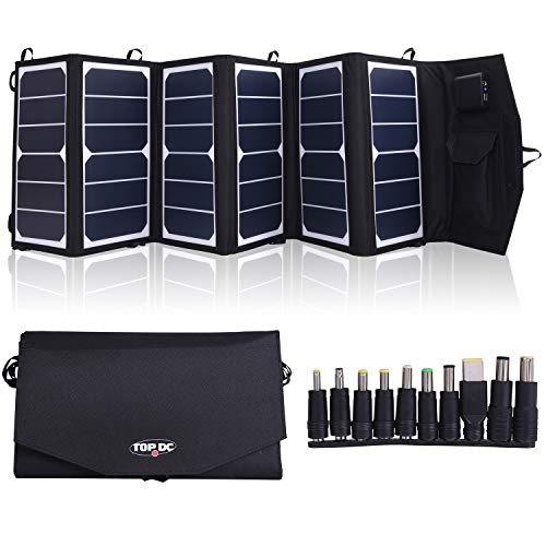 TOPDC 39W High Efficiency 22% Foldable Solar Panel Charger with 5V USB 18V DC Dual Output Camping Travel Charger for Laptop Tablet GPS iPhone iPad Android Camera Other 5-18V Device