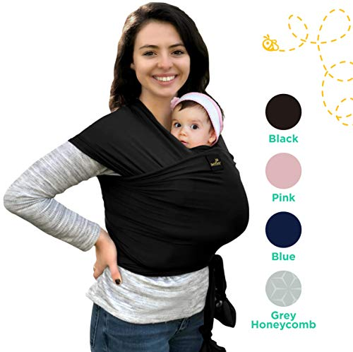 Natural & Breathable My Honey Wrap Lightweight Baby Carrier Sling - for Infants & Babies - 4 Color Options