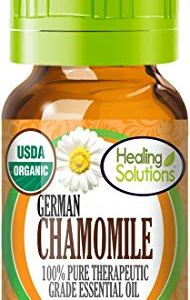 Organic Chamomile German Essential Oil (100% Pure – USDA Certified Organic) Best Therapeutic Grade Essential Oil – 10ml
