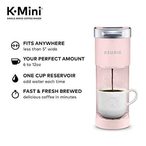 Keurig-K-Mini-Coffee-Maker-Single-Serve-K-Cup-Pod-Coffee-Brewer-6-to-12-Oz-Brew-Sizes-Dusty-Rose