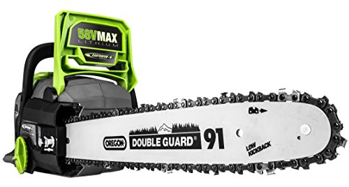 Earthwise LCS35814 14-Inch 58-Volt Cordless Brushless Motor Chainsaw