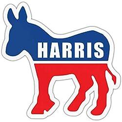 "Crazy Novelty Guy Bumper Sticker - Kamala Harris 2020 - Democrat Donkey - Political Campaign Decal - 4.5"" x 4.25"""