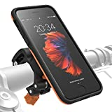 MORPHEUS LABS M4s iPhone 8 Bike Mount, Phone Holder & iPhone 8 Case, Bicycle Cell Phone Holder, Adjustable, fits to Most Bike Handlebars, with Quick Lock, Magnetic for iPhone 8/7 (Not Plus) [Orange]
