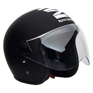 Royal Enfield Matt Black Open Face with Visor Helmet Size (XL)60 CM (RRGHEL000039)