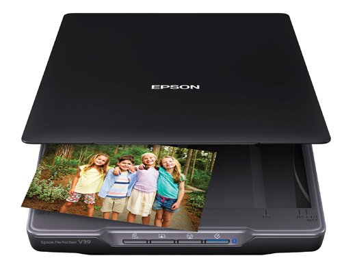 Epson Perfection V39 Color Photo & Document Scanner with scan-to-cloud & 4800 optical resolution