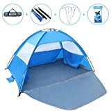 Gorich [2019 New Beach Tent, UV Sun Shelter Lightweight Beach Sun Shade Canopy Cabana Beach Tents Fit 3-4 Person, with Waterproof Case