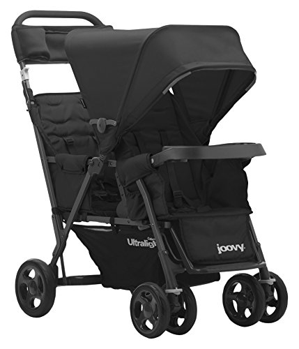 JOOVY Caboose Too Ultralight Graphite Stand-On Tandem Stroller, Black
