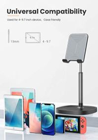 Cell-Phone-Stand-Angle-Height-Adjustable-LISEN-Phone-Stand-For-Desk-Thick-Case-Friendly-Phone-Holder-Stand-For-Desk-Compatible-with-All-Mobile-PhonesiPhoneSwitchiPadTablet4-10in