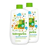 Babyganics Floor Cleaner Concentrate, Fragrance Free, 16-oz (Pack of 2), Packaging May Vary