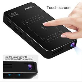AKASO-WT50-Mini-Projector-1080P-HD-Video-DLP-Portable-Projector-with-Android-71-WIFi-Wireless-and-Wired-Screen-Sharing-Trackpad-Design-Pocket-Sized-Home-Theater-Pico-Projector-for-iPhone-Android