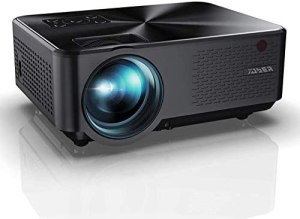 YABER Y60 Portable Projector with 6000 Lumen Upgrade Full HD 1080P 200″ Display Supported, LCD LED Home & Outdoor Projector Compatible with Smartphone, HDMI,VGA,AV and USB
