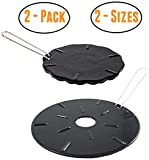 Cast Iron Heat Diffuser Plate - Flame Reducer - 2 Pack - 2 Sizes Included - 8.25' and 6.75' Heat Diffuser Plates - Flame Guard - Simmer Ring - Heat Tamer