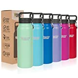 Healthy Human Classic Collection Stainless Steel Vacuum Insulated Water Bottle | Keeps Cold 12 Hours, Hot 6 Hours | Double Walled Water Bottle | 16 oz Seamist