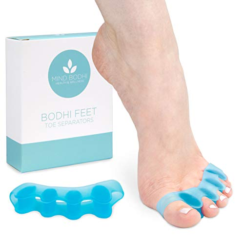 Mind Bodhi Toe Separators to Correct Bunions and Restore Toes to Their Original Shape (Bunion Corrector Toe Spacers Toe Straightener Toe Stretcher Big Toe Correctors) Universal Size - Blue