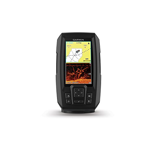 """Garmin Striker 4cv with Transducer, 4"""" GPS Fishfinder with CHIRP Traditional and ClearVu Scanning Sonar Transducer and Built In Quickdraw Contours Mapping Software"""