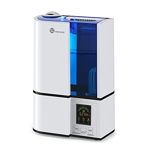 TaoTronics Cool Mist Humidifier, 4L Ultrasonic Humidifiers for Large Bedroom Home Baby, Quiet Operation, LED Display, 360° Nozzle, Waterless Auto Shut-off (1.06 Gallon, US 110V)