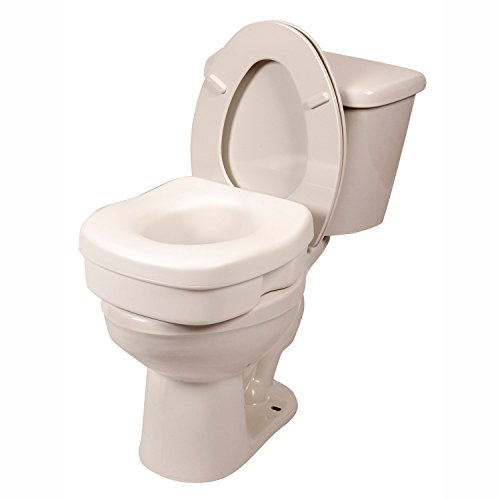PCP Raised Toilet Seat, 5-Inch Elevated Height Over Commode, Increased Lift to Support Safety Stability and Comfort; Lightweight and Portable
