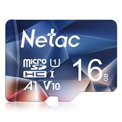 Netac 16GB Micro SD Card, MicroSDHC Memory Card UHS-I, 90/10MB/s(R/W), 600X, C10, U1, A1, V10, Full HD, TF Card for Camera, Smartphone, Security System, Drone, Dash Cam, Gopro, Tablet, DSLRs