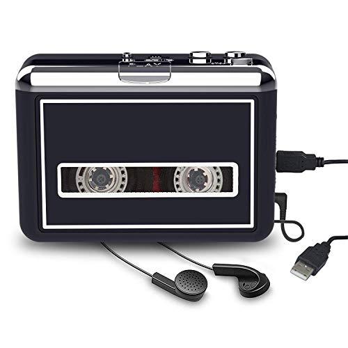 Rybozen Cassette Player Converter, Convert Tapes to Digital MP3 Portable Walkman with New Upgrade Convenient Software (AudioLAVA)