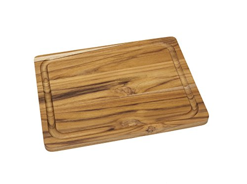 Lipper International 7215 Teak Wood Edge Grain Kitchen Cutting and Serving Board, Small, 12' x 9' x 5/8'