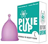 Ranked 1 for Most Comfortable Menstrual Cup and Best Removal Stem - Every Cup Purchased One is Given to a Woman in Need! (Large)