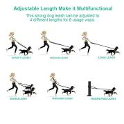 oneisall-Hands-Free-Dog-LeashMultifunctional-Dog-Training-Leads8ft-Nylon-Double-Leash-for-PuppySmall-Large-Dogs