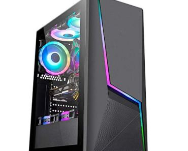 Electrobot i5 9th gen 6 core – Upto 4.10 Ghz, 8GB DDR4 2400Mhz, Nvidia GTX 1050ti 4GB, 120GB SSD, 1TB HDD, Gaming PC with 2 Rainbow Color Cooling Fans