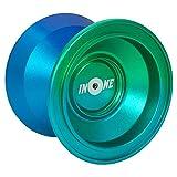INONE Aurora YOYO Aluminum Alloy Unresponsive Yo-yos Designed for Kids, Yo-Yo Fans, Beginners Gift Glove, 10 Strings, Spare Bearing