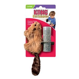 KONG-Beaver-Refillable-Catnip-Toy-Colors-Vary