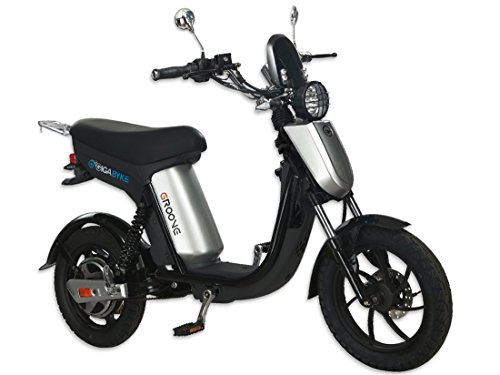 GigaByke Groove - 750W Electric Motorized Bike (Silver)
