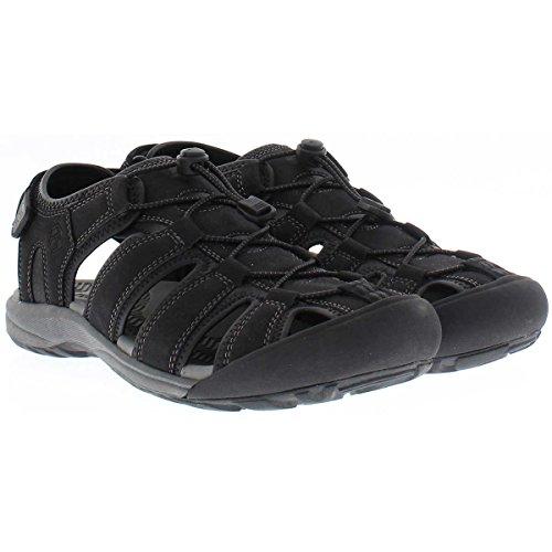 Khombu Sandal Men's Travis Active Sandal (10, Black)