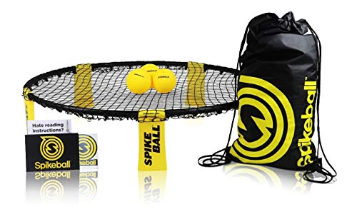 Spikeball 3 Ball Kit - Includes Playing Net, 3 Balls, Drawstring Bag, Rule Book