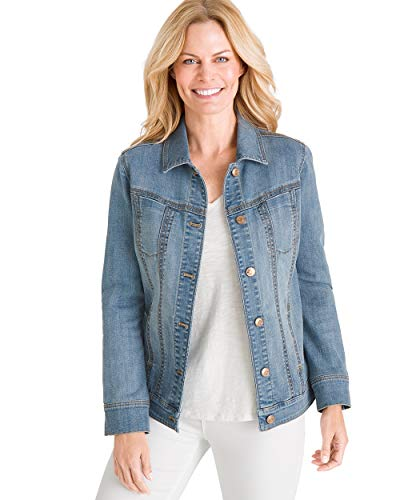 Chico's Women's Stretch Jean Jacket Denim Blue 1 Fashion Online Shop Gifts for her Gifts for him womens full figure