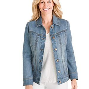 Chico's Women's Stretch Jean Jacket Denim Blue 27 Fashion Online Shop gifts for her gifts for him womens full figure